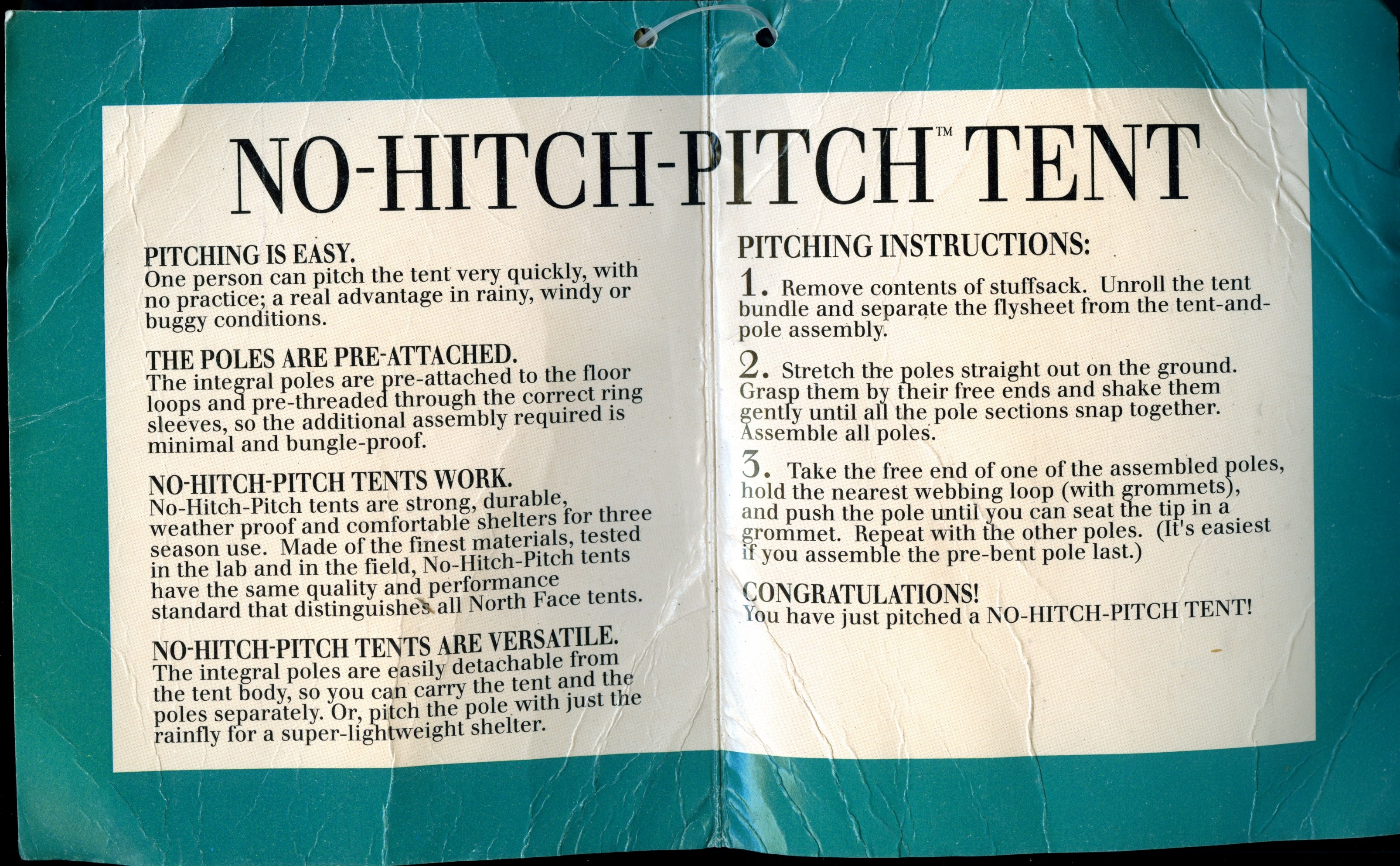 north face mountain 25 tent instructions